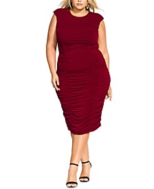 Trendy Plus Size Ruched Bodycon Dress