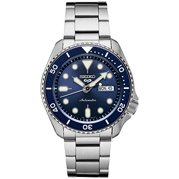 Seiko 5 Men's Automatic Watch with Stainless Steel Bracelet