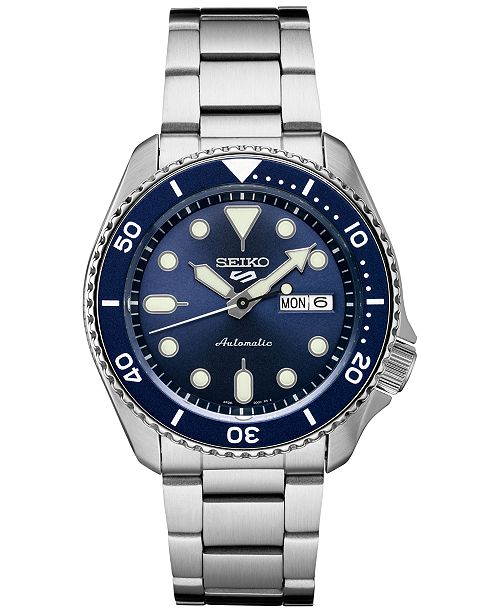 Seiko Men's Automatic 5 Sports Stainless Steel Bracelet Watch 42.5mm
