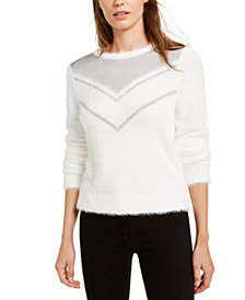 Bar III Chainmail-Trim Sweater, Created For Macy's