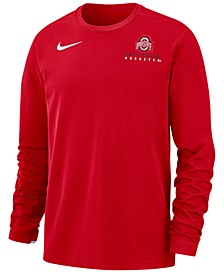 Men's Ohio State Buckeyes Dry Top Crew Sweatshirt