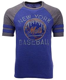 Men's New York Mets Coop Stripes Earned Raglan T-Shirt