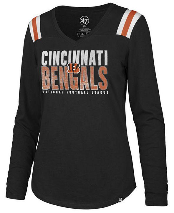 '47 Brand Women's Cincinnati Bengals Flash Long Sleeve T-Shirt