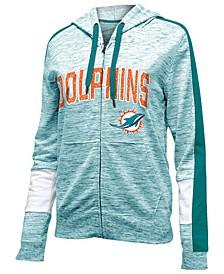 Women's Miami Dolphins Space Dye Full-Zip Hoodie