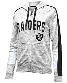 Women's Oakland Raiders Space Dye Full-Zip Hoodie