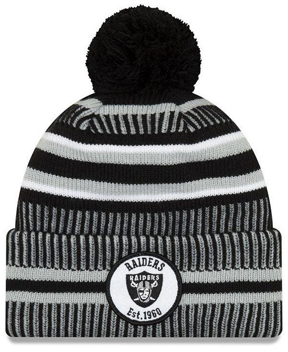 New Era Oakland Raiders Home Sport Knit Hat
