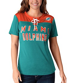 Women's Miami Dolphins Wildcard Jersey T-Shirt