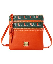 Miami Hurricanes Saffiano Triple Zip Crossbody