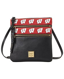 Wisconsin Badgers Saffiano Triple Zip Crossbody
