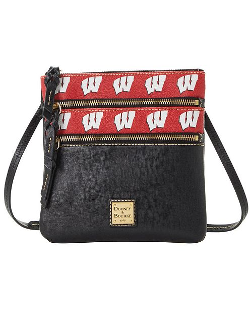 Dooney & Bourke Wisconsin Badgers Saffiano Triple Zip Crossbody