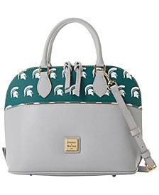 Michigan State Spartans Saffiano Zip Satchel