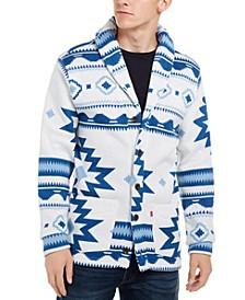 Men's Reverve Geometric Fleece Cardigan