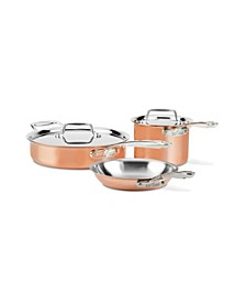 All Clad C4 Copper 5-Pc. Cookware Set