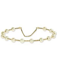 EFFY® Cultured Freshwater Pearl (5mm) Bangle Bracelet in 14k Gold