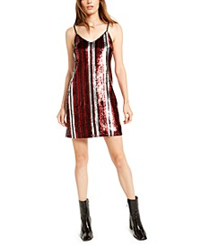 Sequin Striped Dress, Created For Macy's