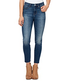 Raw Hem High-Rise Jeans