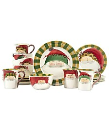 Vietri Old St. Nick Assorted 16-PC Dinnerware Set, Service for 4