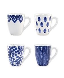 Vietri Santorini Assorted Mugs - Set of 4