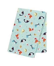 Dinosaurs Jumbo Flannel Swaddle Blanket