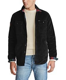폴로 랄프로렌 Polo Ralph Lauren Mens Classic Fit Corduroy Shirt Jacket,Polo Black