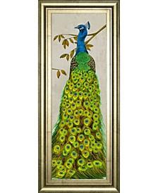 "Vintage-Inspired Peacock II by Melissa Wang Framed Print Wall Art, 18"" x 42"""