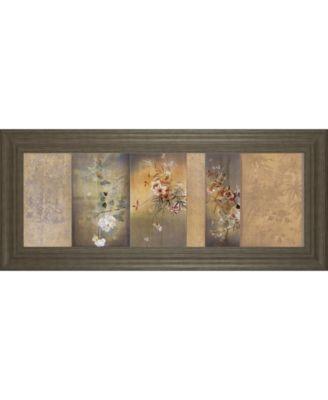 """Tea Garden I by Douglas Framed Print Wall Art, 18"""" x 42"""""""