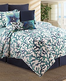 Aqua Reef Full Queen Quilt Set