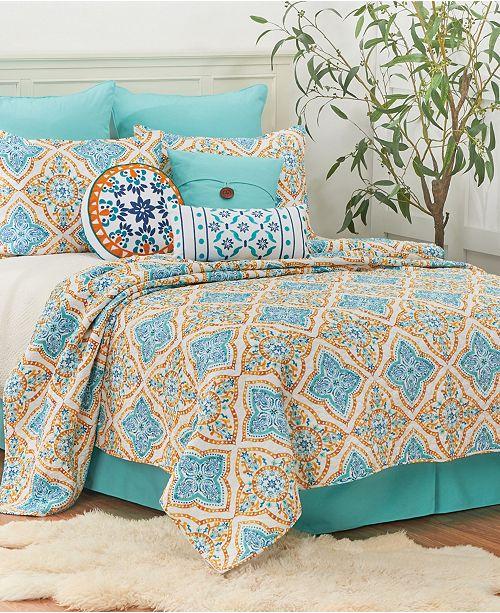 C & F Enterprises Inc C F Home Terrace Medallion Twin Quilt Set