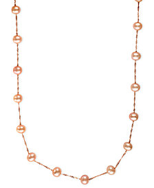 """EFFY Cultured Freshwater Pearl Station 18"""" Necklace in 14k Gold (5-1/2mm)"""