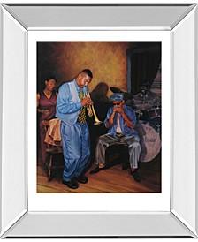 """Jazz Trumpet Mirror Framed Print Wall Art, 22"""" x 26"""""""
