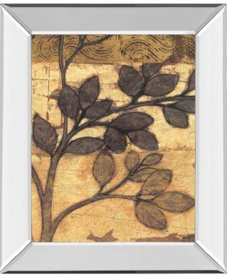 "Bronzed Branches II by Norman Wyatt Jr. Mirror Framed Print Wall Art, 22"" x 26"""
