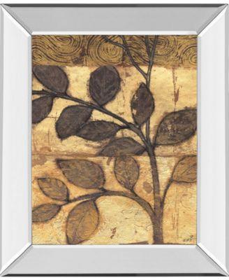 "Bronzed Branches I by Norman Wyatt Jr. Mirror Framed Print Wall Art, 22"" x 26"""