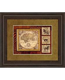 "Journey To Africa II by Tava Studio Framed Print Wall Art, 34"" x 40"""