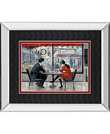"""Player's Theatre by Ruanne Manning Mirror Framed Print Wall Art, 34"""" x 40"""""""