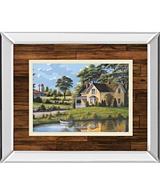 """Yellow House by Saunders Mirror Framed Print Wall Art, 34"""" x 40"""""""