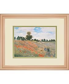 """Wild Poppies, Near Argenteuil by Claude Monet Framed Print Wall Art, 34"""" x 40"""""""