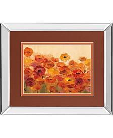 """Summer Poppies by Silvia Vassileva Mirror Framed Print Wall Art, 34"""" x 40"""""""