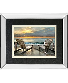 """Island Song by Celerate Life Gallery Mirror Framed Print Wall Art, 34"""" x 40"""""""