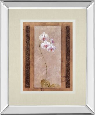 """Contemporary Orchid I by Carney Mirror Framed Print Wall Art, 34"""" x 40"""""""