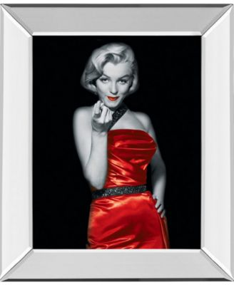 """Lady in Red 2 by Chelsea Collection Mirror Framed Print Wall Art, 22"""" x 26"""""""