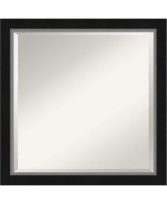 "Eva Silver-tone Framed Bathroom Vanity Wall Mirror, 23.12"" x 23.12"""