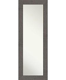 "Rustic Plank on The Door Full Length Mirror, 19.38"" x 53.38"""