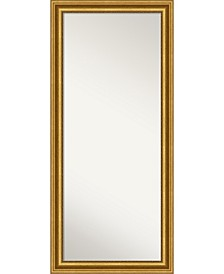 """Parlor Gold-tone Framed Floor/Leaner Full Length Mirror, 29.62"""" x 65.62"""""""