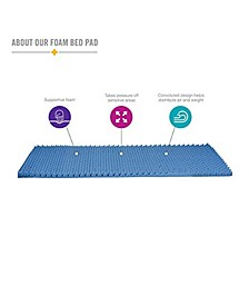 Convoluted Foam Bed Pad Mattress Topper Collection