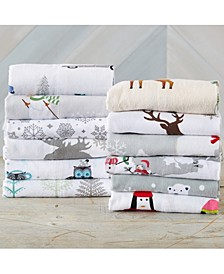 Home Fashions Designs Stratton Collection Super Soft Printed Flannel Queen Sheet Set