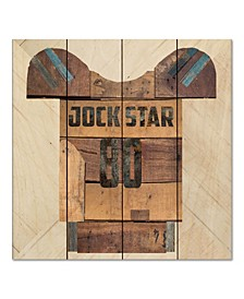 "Vintage like Sports Jock Star Football 12"" x 12"" Wood Pallet Wall Art"