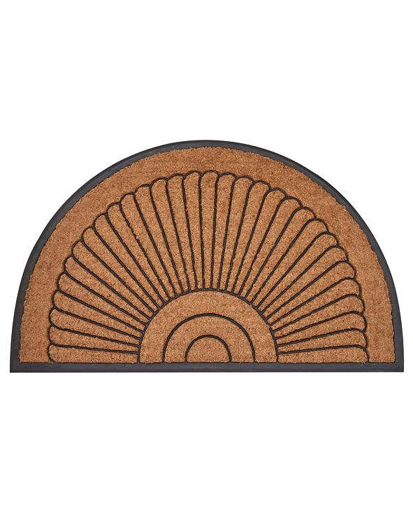 "Envelor Arc Du Soleil Rubber Backing Coco Welcome Doormat, 18"" x 30"""