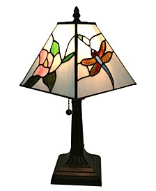Tiffany Style Mission Dragonfly Table Lamp