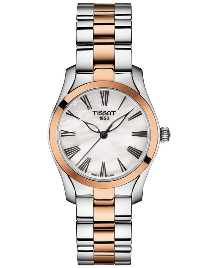 Tissot - Women's Swiss T-Wave Two-Tone Stainless Steel Bracelet Watch 30mm