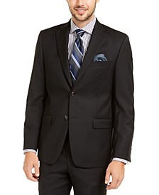 Men's Slim-Fit UltraFlex Stretch Black Solid Suit Jacket
